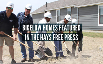 Bigelow Homes Featured in the Hays Free Press