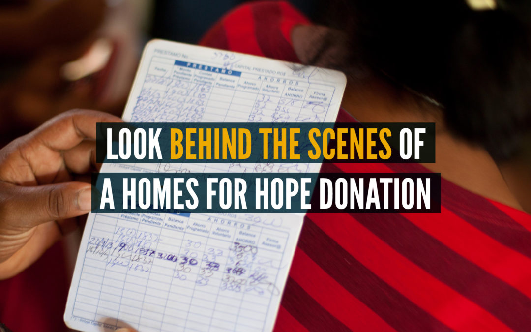 Look Behind The Scenes of Homes for Hope Donations