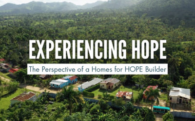 Experiencing HOPE: The Perspective of a Homes for HOPE Builder