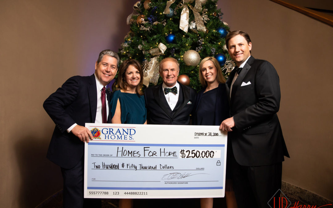 Grand Homes Celebrates Birth of Christ and 7th Home for Hope